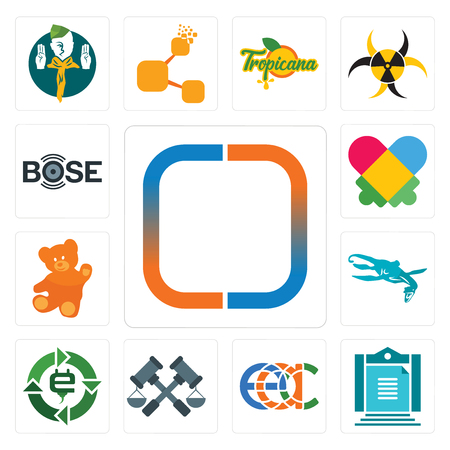 Set Of 13 simple editable icons such as new , aturan, eac, judiciary, e waste, loch ness monster, , autism, bose can be used for mobile, web UI