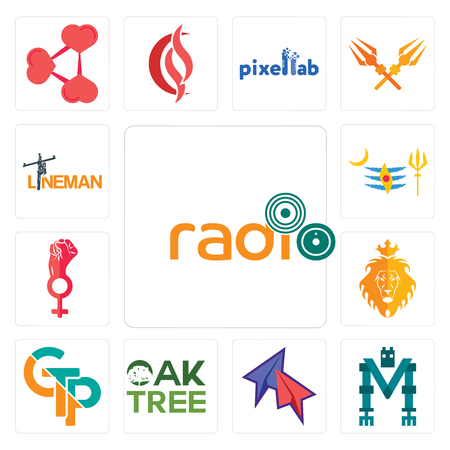 Set Of 13 simple editable icons such as, mech, telegram, oaktree, gtp, judah and the lion, women empowerment, mahadev, lineman can be used for mobile, web UI