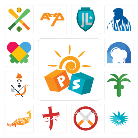 Set Of 13 simple editable icons such as pre school, urchin, non smoking, antichrist, golden peacock, church, brahmin, d dentist, autism can be used for mobile, web UI Illustration