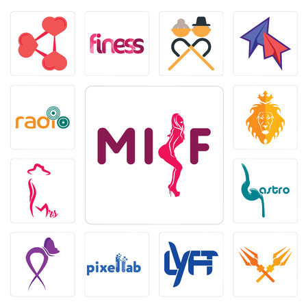 Set Of 13 simple editable icons such as milf, trishul, lyft, pixellab, lupus, gastro, mrs, judah and the lion, can be used for mobile, web UI