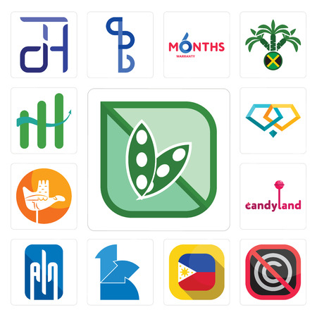 Set Of 13 simple editable icons such as soy free, no copyright, philippine flag, 111, ain, candyland, chandigarh, jewlery, continuous improvement can be used for mobile, web UI