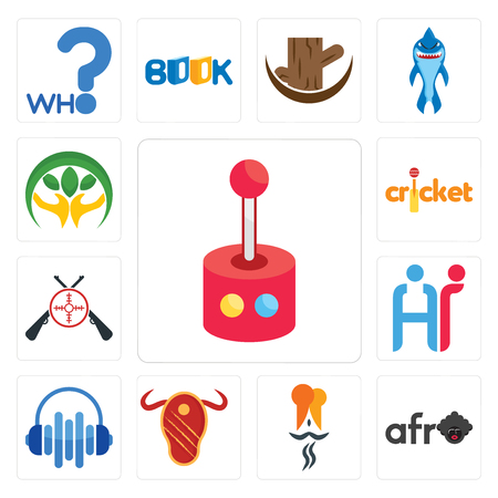 Set Of 13 simple editable icons such as retropie, afro, indian restaurant, steak house, audio visual, hr, shooters, cricket, hand holding plant can be used for mobile, web UI