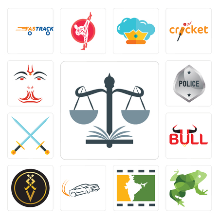 Set Of 13 simple editable icons such as naacp, big frog, bollywood, drift, luxury, bull, excalibur, generic police, anjaneya can be used for mobile, web UI