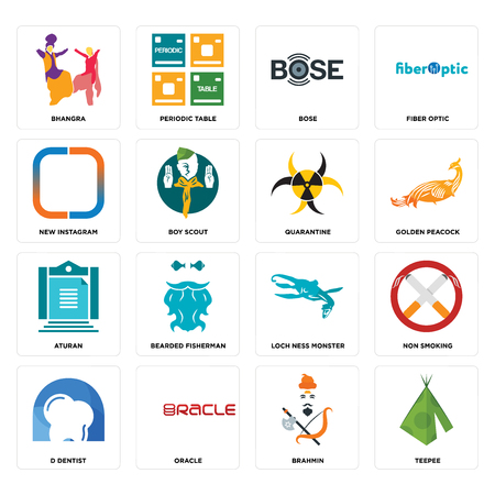Set Of 16 simple editable icons such as teepee, brahmin, oracle, d dentist, non smoking, bhangra, new , aturan, quarantine can be used for mobile, web UI