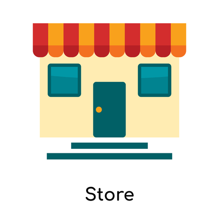 Store icon isolated on white background for your web and mobile app design