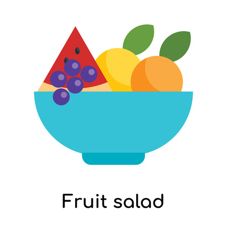 Fruit salad icon isolated on white background for your web and mobile app design Illustration