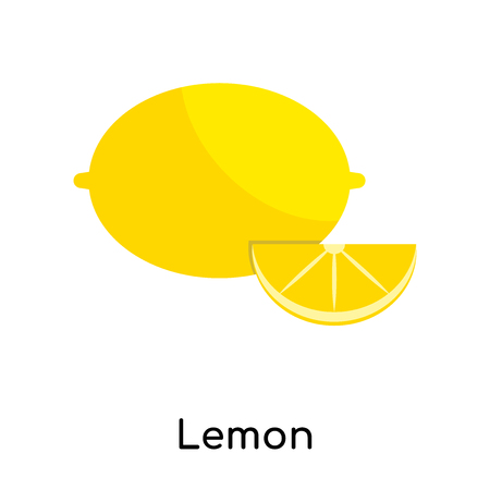Lemon icon isolated on white background for your web and mobile app design Illustration