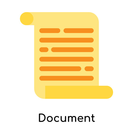 Document icon isolated on white background for your web and mobile app design