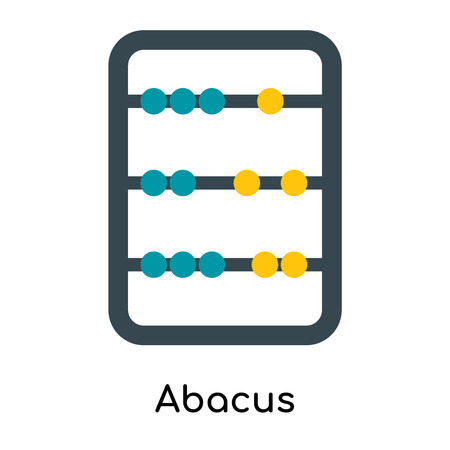 Abacus icon isolated on white background for your web and mobile app design