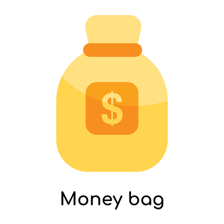 Money bag icon isolated on white background for your web and mobile app design