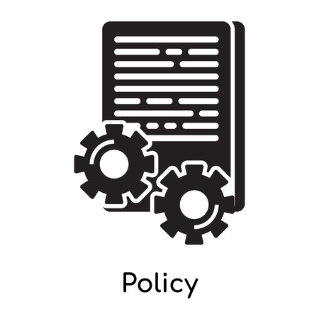 Policy icon isolated on white background for your web and mobile app design