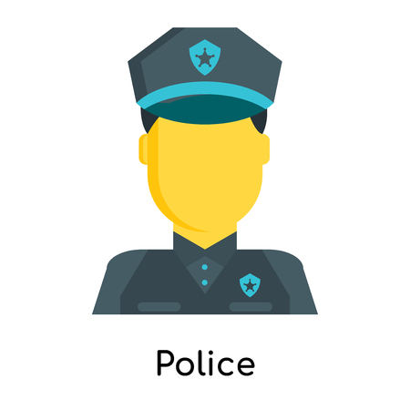 Police icon isolated on white background for your web and mobile app design