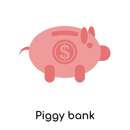 Piggy bank icon isolated on white background for your web and mobile app design Illustration