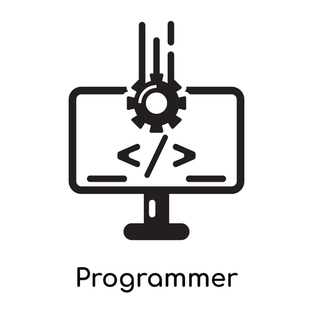 Programmer icon isolated on white background for your web and mobile app design