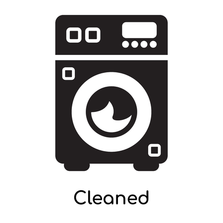 Cleaned icon isolated on white background for your web and mobile app design Ilustrace