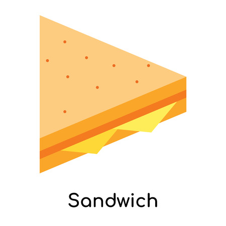 Sandwich icon isolated on white background for your web and mobile app design