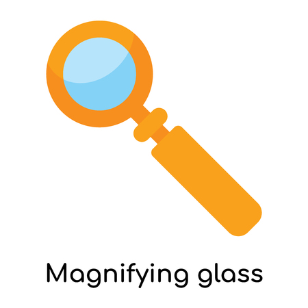Magnifying glass icon isolated on white background for your web and mobile app design