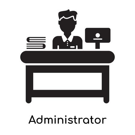 Icono de administrador aislado sobre fondo blanco para su diseño web y aplicaciones móviles