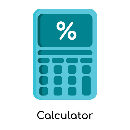 Calculator icon isolated on white background for your web and mobile app design Illustration