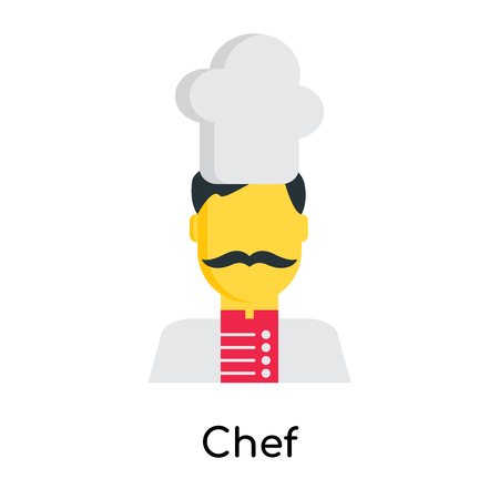 Chef icon isolated on white background for your web and mobile app design Illustration