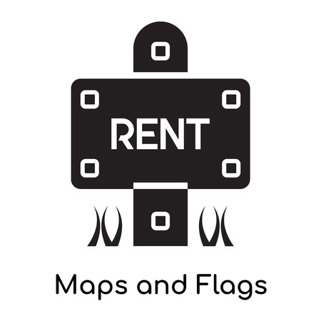 Maps and Flags icon isolated on white background for your web and mobile app design