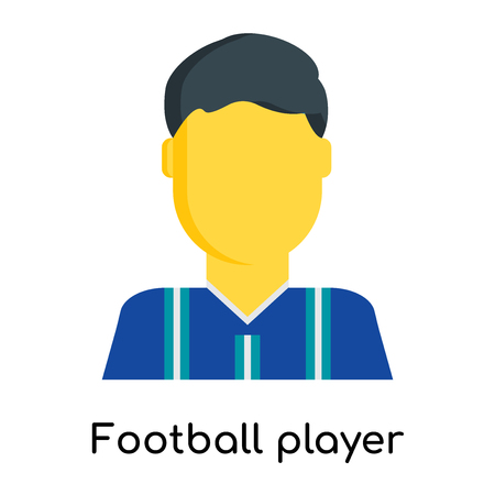 Football player icon isolated on white background for your web and mobile app design Illustration
