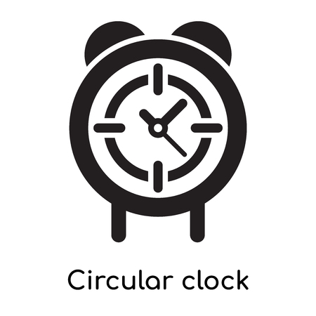 Circular clock icon isolated on white background for your web and mobile app design