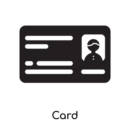 Card icon isolated on white background for your web and mobile app design Vettoriali