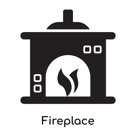 Fireplace icon isolated on white background for your web and mobile app design