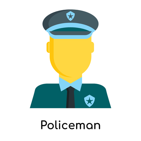 Policeman icon isolated on white background for your web and mobile app design