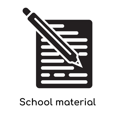 School material icon isolated on white background for your web and mobile app design