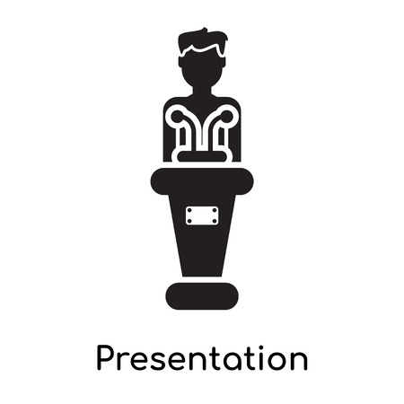Presentation icon isolated on white background for your web and mobile app design 矢量图像