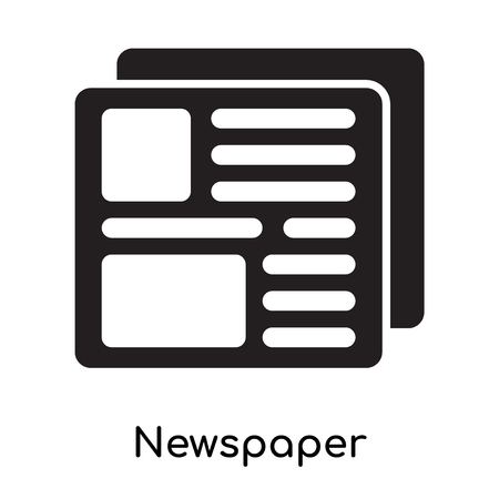 Newspaper icon isolated on white background for your web and mobile app design Illustration