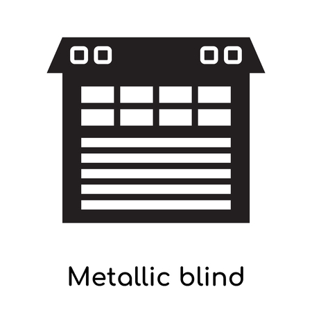 Metallic blind icon isolated on white background for your web and mobile app design