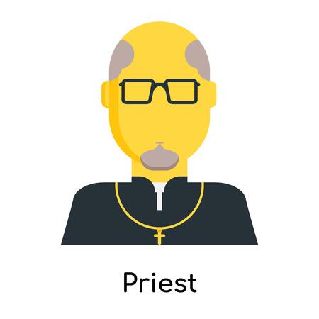 Icône de prêtre isolé sur fond blanc pour la conception de votre application web et mobile
