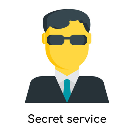 Secret service icon isolated on white background for your web and mobile app design