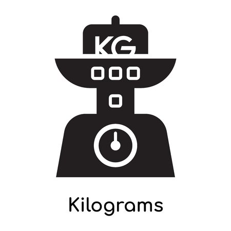 Kilograms icon isolated on white background for your web and mobile app design