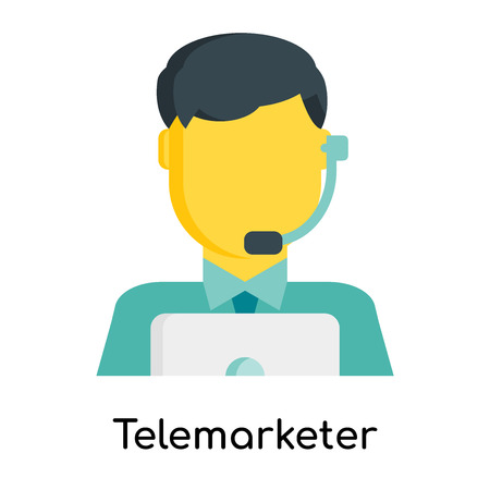 Telemarketer icon isolated on white background for your web and mobile app design