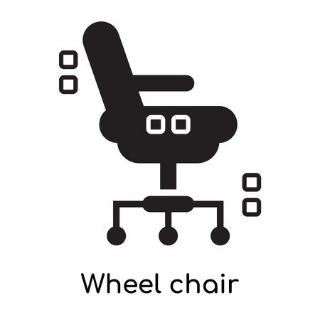 Wheel chair icon isolated on white background for your web and mobile app design