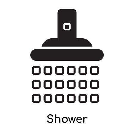 Shower icon isolated on white background for your web and mobile app design