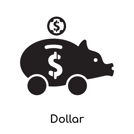 Dollar symbol icon isolated on white background for your web and mobile app design