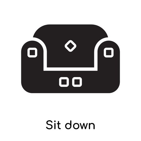 Sit down icon isolated on white background for your web and mobile app design