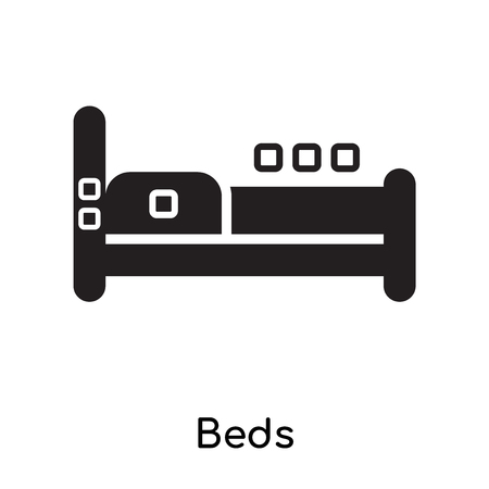 Beds icon isolated on white background for your web and mobile app design Vettoriali