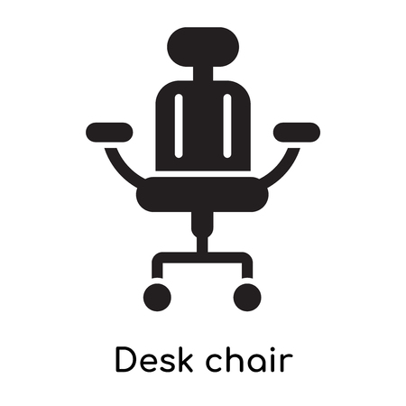 Desk chair icon isolated on white background for your web and mobile app design