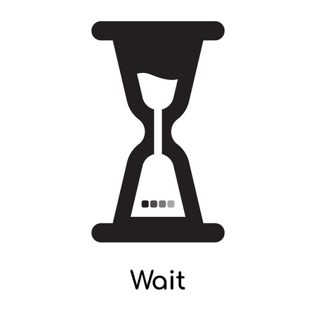 Wait icon isolated on white background for your web and mobile app design  イラスト・ベクター素材