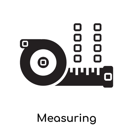 Measuring icon isolated on white background for your web and mobile app design Ilustracja