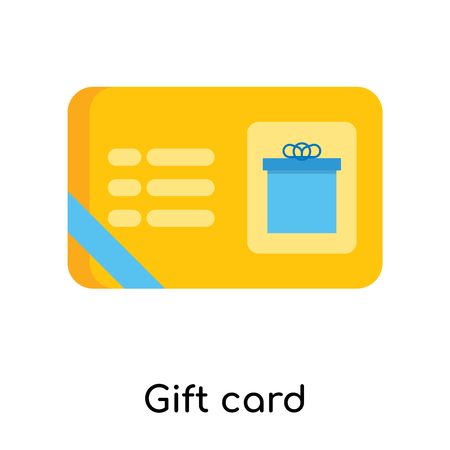 Gift card icon isolated on white background for your web and mobile app design
