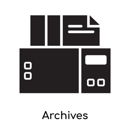 Archives icon isolated on white background for your web and mobile app design