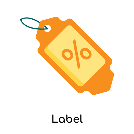 Label icon isolated on white background for your web and mobile app design