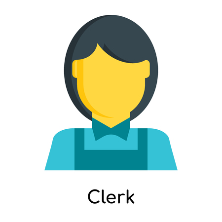 Clerk icon isolated on white background for your web and mobile app design  イラスト・ベクター素材